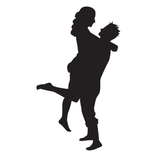 Romantic couple silhouette couple Transparent PNG