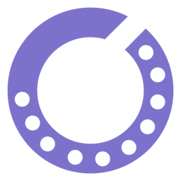 Ícone de estilo de linha de discagem rotativa