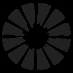 Round flower vector