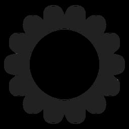 Icono redondo de flor de múltiples pétalos