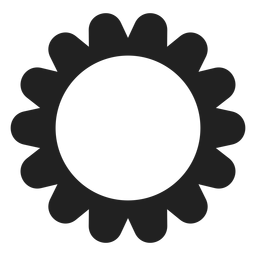Round multi petal flower icon