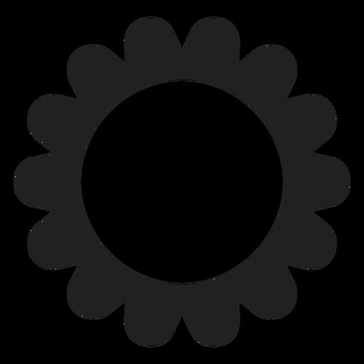Icono de flor redonda de m?ltiples p?talos
