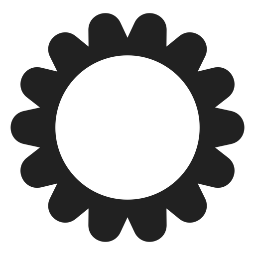 Round multi petal flower icon Transparent PNG