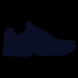 Silhueta de sapatos de borracha