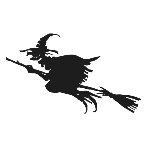 Scary ripped witch silhouette Transparent PNG
