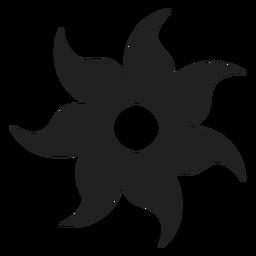 Icono de flor de siete pétalos
