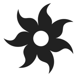 Sieben Blütenblatt Blume Symbol