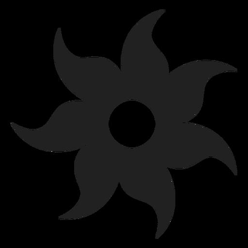 Sieben Blütenblatt Blume Symbol Transparent PNG