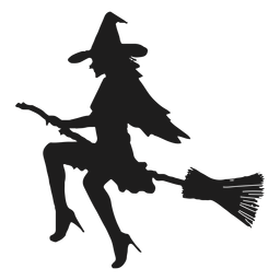 Sexy witch silhouette