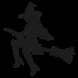 Silhueta de bruxa sexy