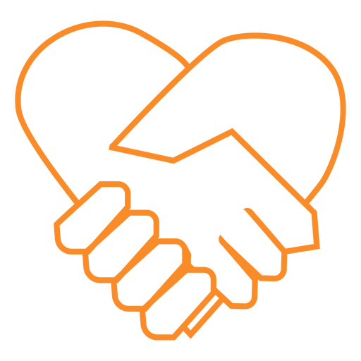 Shake hands line style vector Transparent PNG