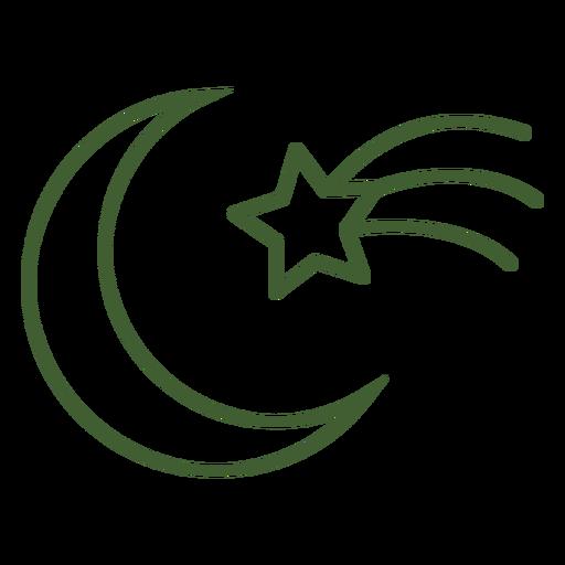 Icono de estrella fugaz y luna Transparent PNG
