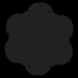 Einfacher Anemonenblumenvektor