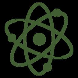 Icono de átomo simple