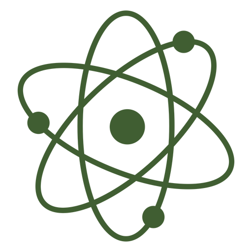 Simple atom icon Transparent PNG
