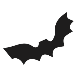 Simple bat mammal silhouette