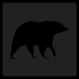Urso simples ícone quadrado