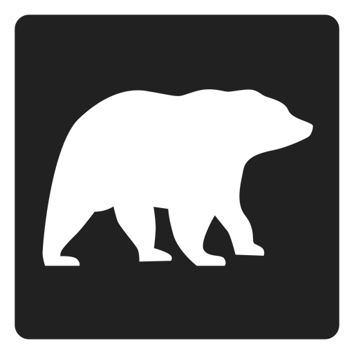 Simple bear square icon Transparent PNG