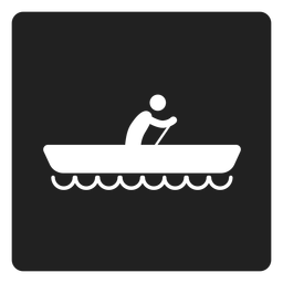 Simple boating square icon