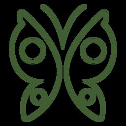 Icono de mariposa simple