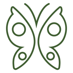 Simple butterfly icon