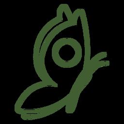 Borboleta de ícone de borboleta simples