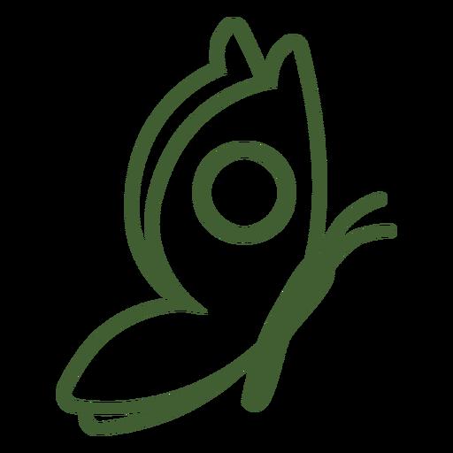 Borboleta de ícone de borboleta simples Transparent PNG