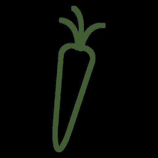 Icono de zanahoria simple Transparent PNG