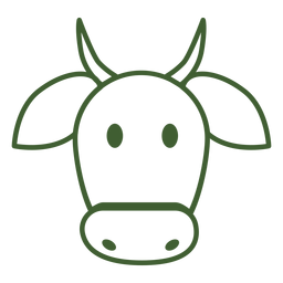 Ícone de vaca simples