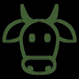 Simple icono de vaca