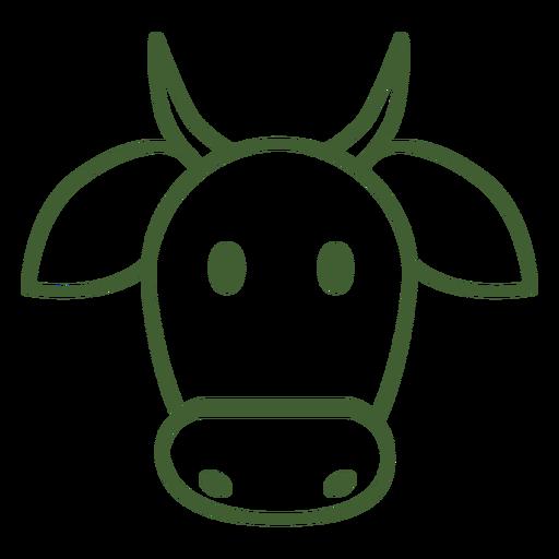 Ícone de vaca simples Transparent PNG