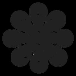 Ícone de contorno simples daisy
