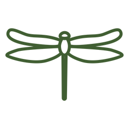 Icono de libélula simple