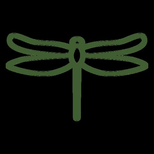 Ícone de libélula simples Transparent PNG