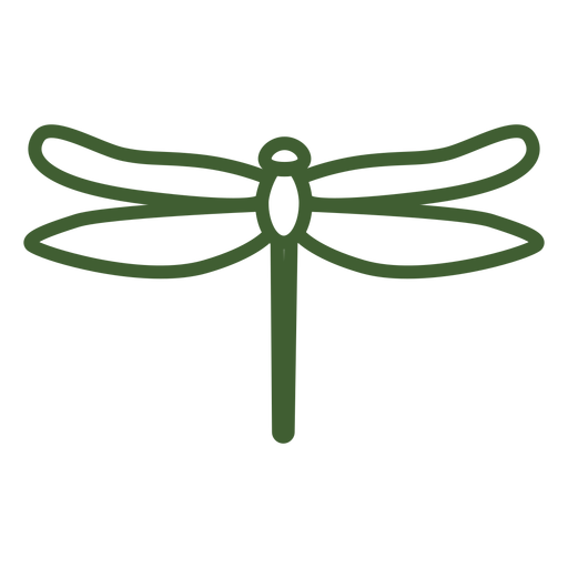Simple dragonfly icon Transparent PNG