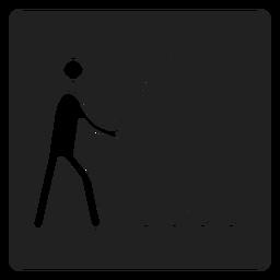 Ícone quadrado pesca simples