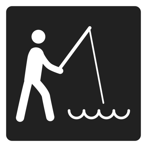 Simple fishing square icon Transparent PNG