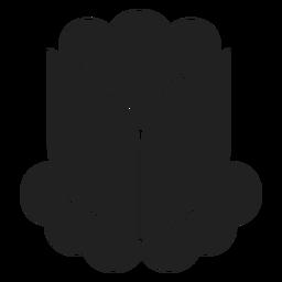 Simple flower bud vector
