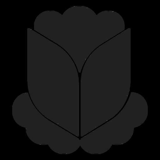 Vector de yema de flor simple Transparent PNG