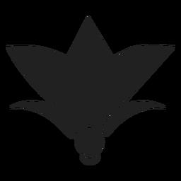 Einfache Blume Symbol