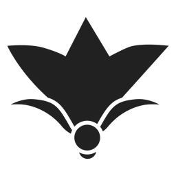 Icono de flor simple
