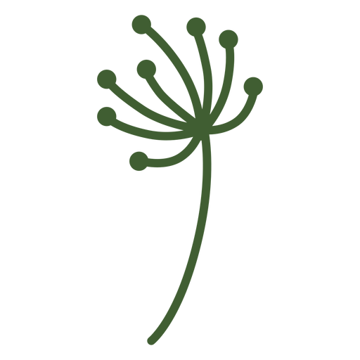 Simple flower tip icon Transparent PNG