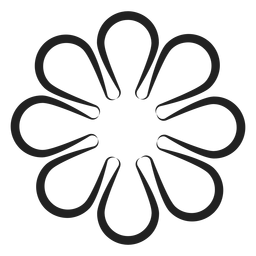 Simple flower vector outline