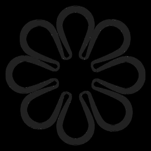 Simple flower vector outline , Transparent PNG \u0026 SVG vector
