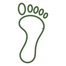 Simple footprint icon