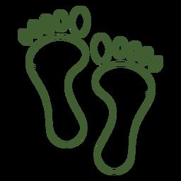 Einfacher Fußabdruck-Symbolfuß