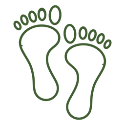 Simple footprint icon foot