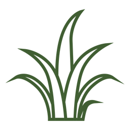 Icono de hierba simple