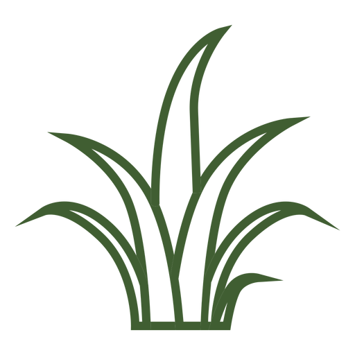Simple grass icon Transparent PNG