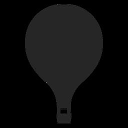 Silhueta de balão de ar quente simples